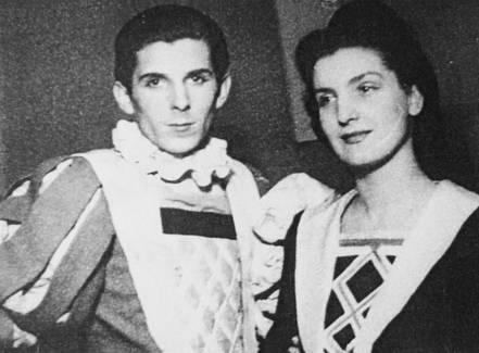 """Ion Vova și Lia Șahighian în """"Noaptea regilor"""" de W. Shakespeare"""