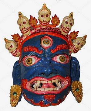 Mască tribală, Bhopal Museum, Bhopal Madhya Pradesh, India