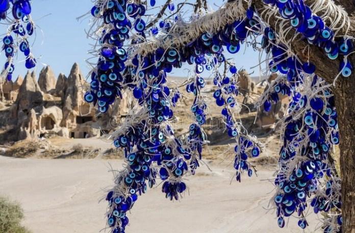 Urfet Șachir Mărgea de deochi tradițională, amuletă din Cappadocia, Marele Bazar din Istanbul