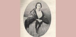 Pia Brătianu (Caliopi-Pia Pleșoianu în 1858, la căsătoria cu Ion C. Brătianu). Sursa foto Wikipedia