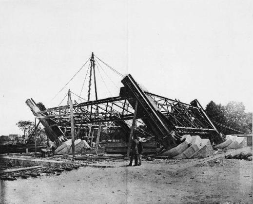 Etapele construirii Turnului Eiffel – 1. 18 iulie 1887