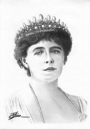 Regina Maria, desen de Bogdan Calciu