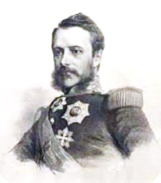 A. I. Cuza în anii 1860, litografie de August Strixner
