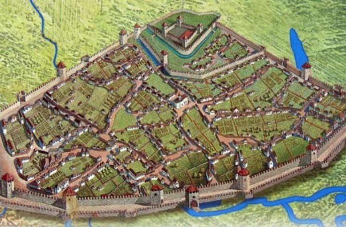 """Cetatea Chilia. Sursa foto: """"Cetăți. Mică enciclopedie ilustrată"""" de Mariana Șlapac, Editura Arc, 2011"""