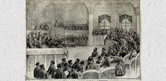 Deschiderea primului Parlament al României, 1862. Sursa foto: Wikipedia