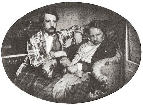 Gaetano Donizetti și nepotul său, Andrea la Paris în 3 august 1947 – imagine la daghereotip. Sursa: Wikipedia