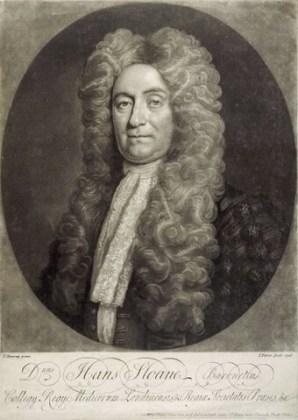 Sir Hans Sloane, gravură după un portret de T. Murray