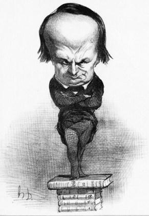 """Caricatura lui Victor Hugo, apărută în """"Le Charivari"""",20 iulie 1848"""