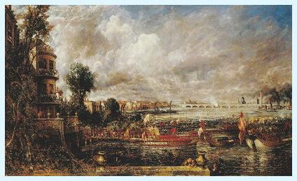 """Inaugurarea podului de la Waterloo"", 1832"