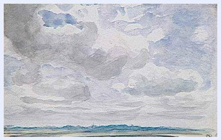 """""""Studiu de cer cu nori groși, albi și gri"""""""