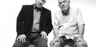 "Rami Baruch și Shlomo Vishinsky în spectacolul ""Cine e evreu"", Teatrul Cameri din Tel Aviv"