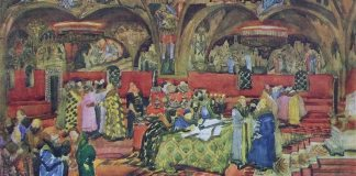"Schiță de decor pentru ""Boris Godunov"", Metropolitan Opera New York, 1913"