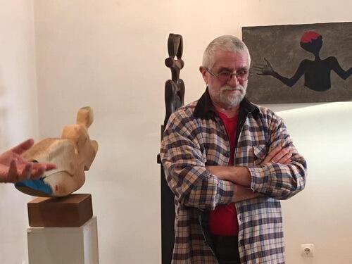 Sculptorul Valer Neag