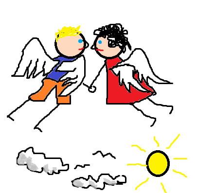 """Desene de Lică Barbu. """"Îngeri"""""""