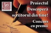 logo rubrica concurs cu premii descoperă scriitorul din tine