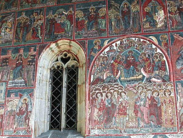 Biserica Humor, pictură exterioară