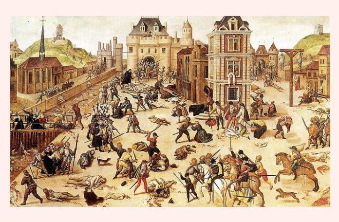 """François Dubois, """"Masacrul Sfântului Bartolomeu"""", cca 1572 – 1584"""