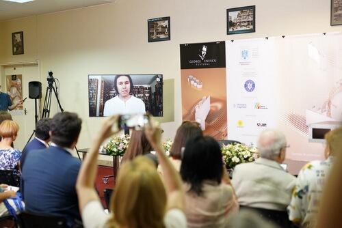 """Imagini de la conferința de presă. Sursa foto: site-ul Festivalului """"Enescu"""""""