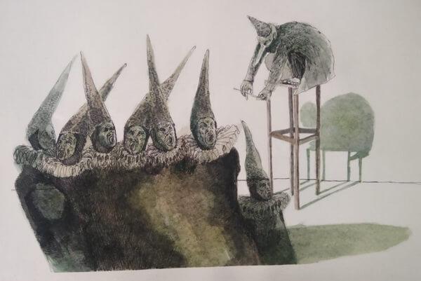 """Andrei Răzvan Neciu. """"Șapte cântece pe versuri de Clément Marot"""" de George Enescu, grafică de șevalet"""