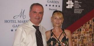 Cristina Georgescu și Claudiu Victor Gheorghiu la Gala Aniversară A Asociației Filială Artă Plastică Religioasă și Restaurare a UAP din Români, 25 de ani, 2 august 2019, Hotel Marshal Garden București.