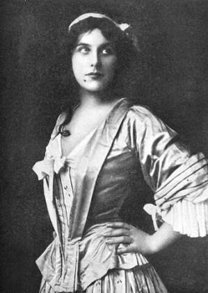 """Geraldine Farrar în rolul lui Manon din """"Manon"""" de Jules Massenet, Metropolitan Opera New York, 1909 sau 1912"""