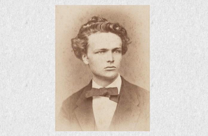 August Strindberg în 1874, la 25 de ani
