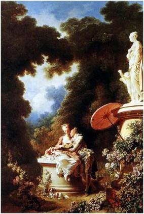 "Jean-Honoré Fragonard, ""Declaraţia de dragoste"", 1771"