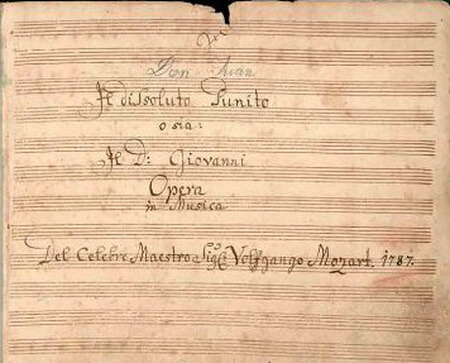 "Pagina de titlu a partiturii operei ""Don Giovanni"""
