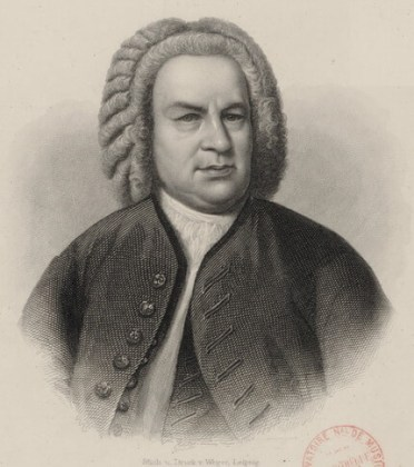 J. S. Bach, portret de August Weger, cca 1870, Bibliothèque Nationale de France