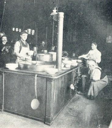Bucătăria Ospătăriei comunale. Sursa foto: Muzeul Muncipiului București