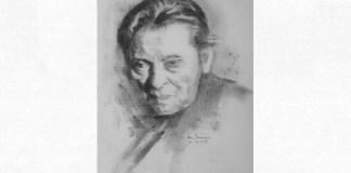 George Enescu, portret de Adina Romanescu, 21 iulie 2019