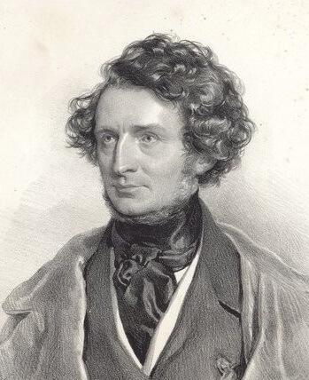 """Josef Kriehuber (1800 – 1876), """"Hector Berlioz"""", 1845"""