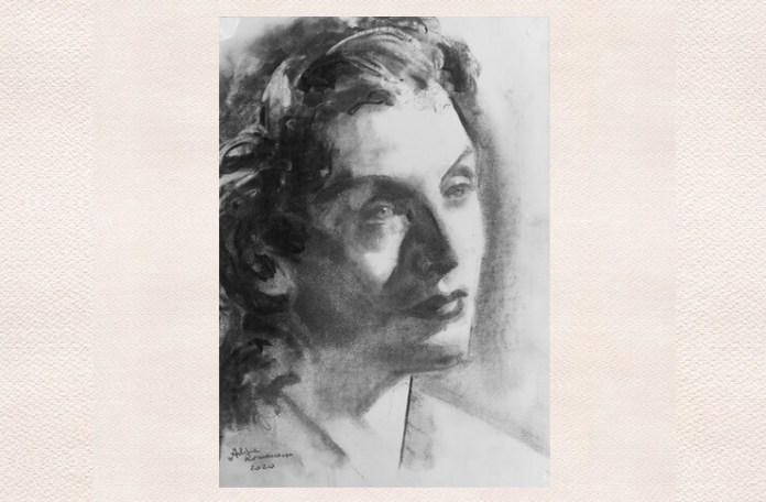 Maria Tănase, portret de Adina Romanescu, 15 martie 2020, inedit