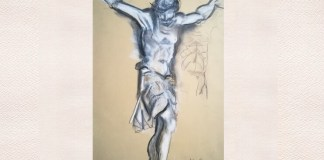"""Adina Romanescu, """"Christos răstignit"""", studiu după o lucrare din Museo del Tesoro, San Pietro, Roma, 21 mai 2009"""
