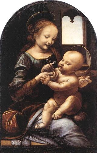 """Leonardo da Vinci, """"Madona Benois"""", 1478, Muzeul Ermitaj, Sankt Petersburg"""