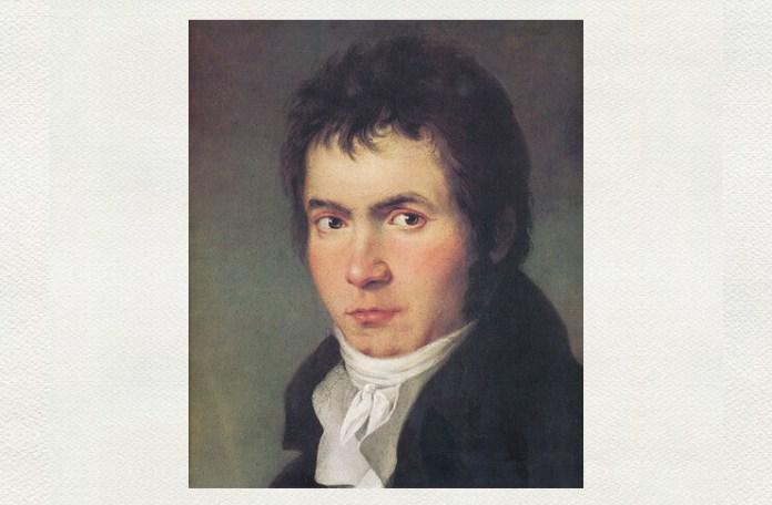Ludwig van Beethoven, portret de Joseph Willibrord Mähler (1778–1860), 1804–1805, detaliu