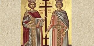 Sfinții Împărați Constantin și Elena. Sursa foto: creștinortodox.ro