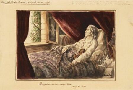 Paganini pe patul de moarte, autor necunoscut