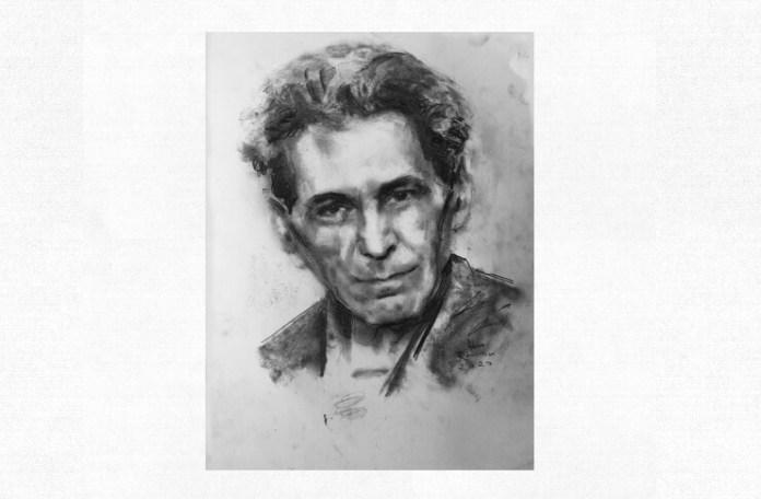 G. Călinescu, portret de Adina Romanescu, 25 mai 2020. Inedit