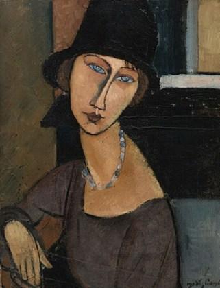 """""""Jeanne Hébuterne cu pălărie"""", 1917"""