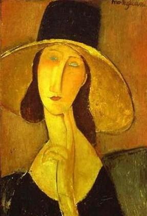 """""""Jeanne Hébuterne cu pălărie"""", 1918"""