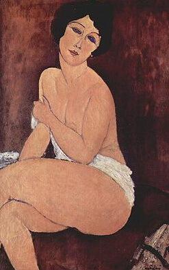 """""""Nud așezat pe un divan"""", 1917"""