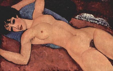 """Nud culcat"", 1917"