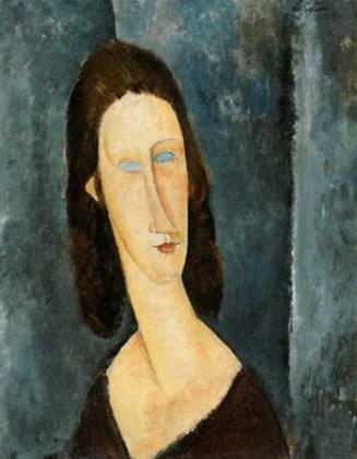 """Ochi albaștri (Jeanne Hébuterne) ,1917"