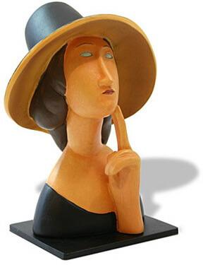 Jeanne Hébuterne, statuie pictată, 1918