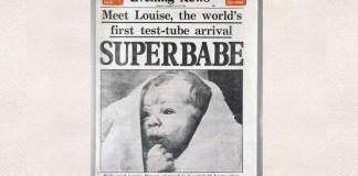 primul copil din lume (o fetiţă) conceput în urma unei proceduri de inseminare artificială
