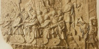 Predarea dacilor, basorelief atribuit lui Apollodor din Damasc (50–130 d. Hr.)