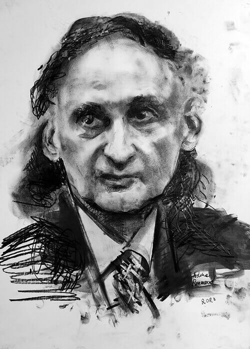 Grigore Vieru, portret de Adina Romanescu, 1 septembrie 2020. Inedit. Copyright©Adina Romanescu