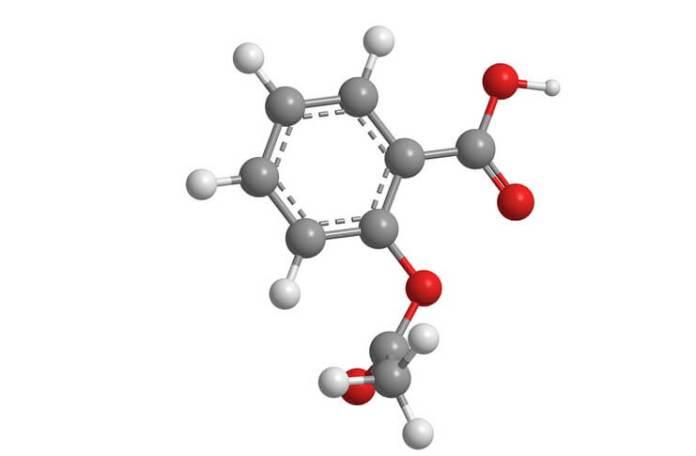 Molecula de aspirina