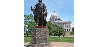 Vikingul Leif Erikson, statuie de John K. Daniels, 1948–49, Minnesota State Capitol